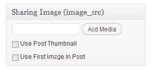 Nastavení pro volbu obrázku zobrazeného při vložení odkazů na Facebook